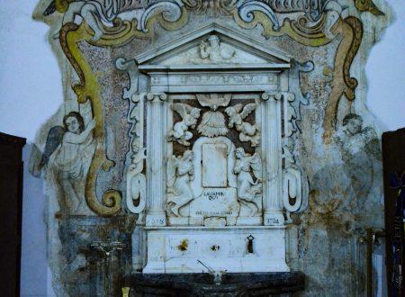 Nella sacrestia della chiesa della S. Maria Maddalena, a Morano Calabro, CS